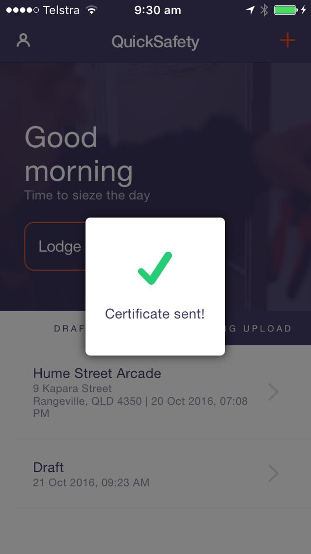 Certificates Compliance App Construction